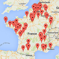 Carte des pilotes de drones